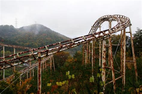 theme park with most roller coasters check out this eerie abandoned japanese theme park