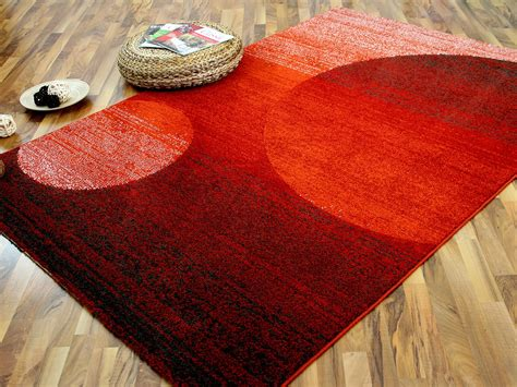 teppich orange designer teppich softstar rot orange kreise teppiche