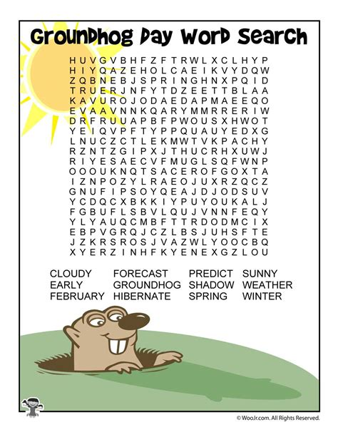 groundhog day meaning phrase groundhog day word search woo jr activities
