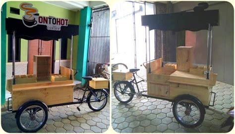 desain gerobak keliling gerobak sepeda kopi vintage jasa pembuatan gerobak