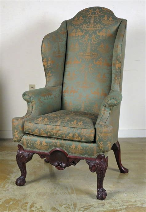 chippendale wingback chair a chippendale style mahogany wing back chair possibly