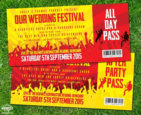 wedding invitations like concert tickets concert ticket wedding invitations http www wedfest co