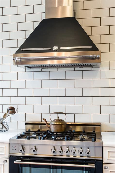 white kitchen backsplash tiles white subway tile with gray grout diy house projects