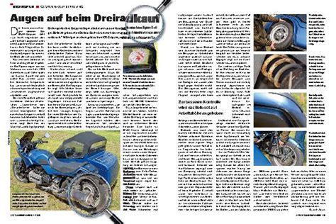 Motorrad Gespann Kaufberatung by Tourenfahrer Archiv Test Reise Zubeh 246 R Tourenfahrer