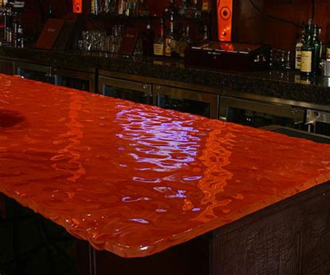 Lighted Bar Tops by Kiln Formed Glass Studio Glassworks Llc