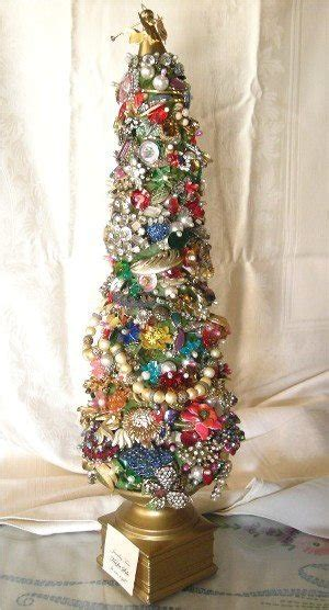vintage jewelry christmas tree ideas to make pinterest
