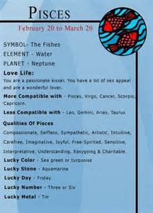 pisces color pisces numbers and pisces zodiac on