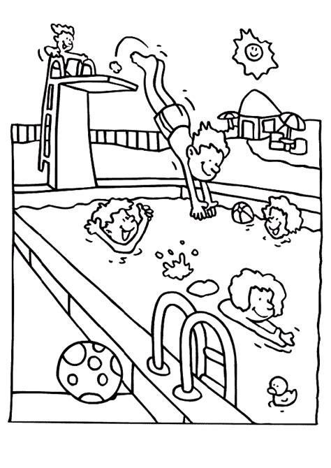 Swimming Coloring Pages To Print Az Coloring Pages Swimming Pool Coloring Pages