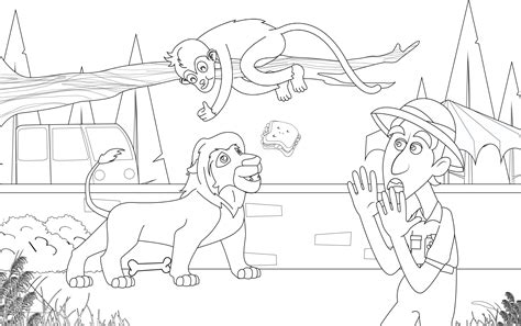zookeeper coloring pages huntington s disease youth organization kids coloring