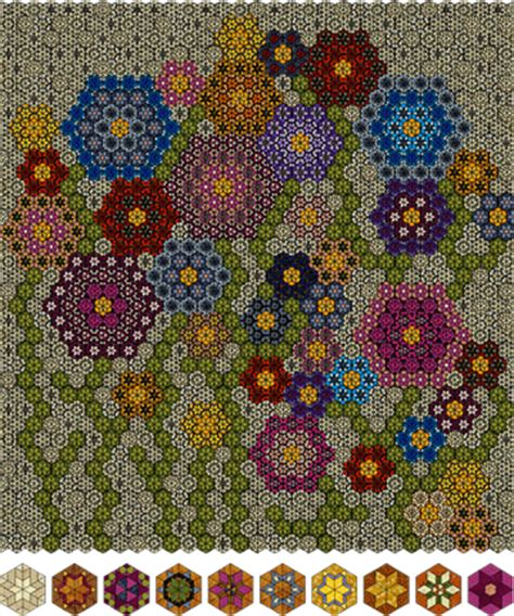 Grandmothers Flower Garden Grandmother S Flower Garden Quilt Design Pdf