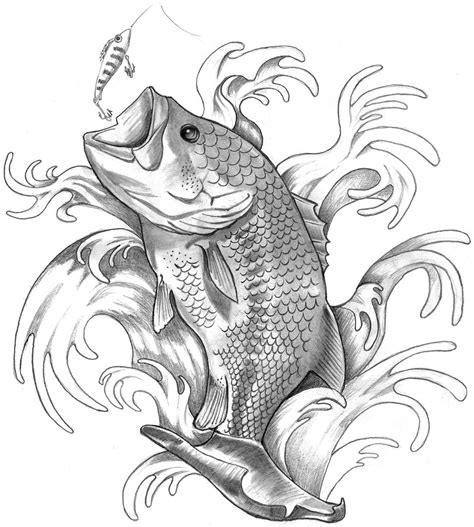 largemouth bass tattoo designs bass fishing by elguapo6 on deviantart