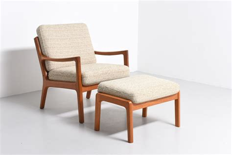 Lounge Chair With Footstool by Senator Lounge Chair With Footstool Ole Wanscher