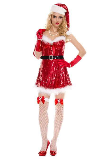 sexy miss sequin santa costume ebay