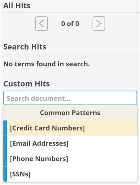 Credit Card Format Code Introducing Search Term Reports The Everlaw