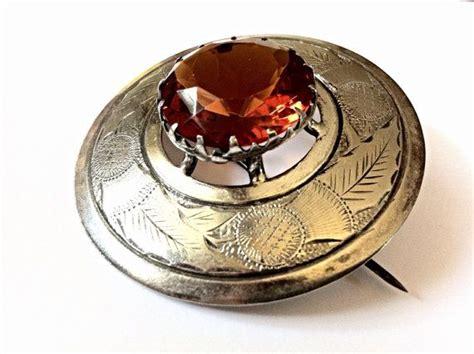 large antique scottish cairngorm brooch outstanding