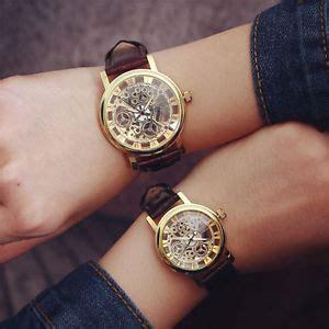 fashion transparent hollow quartz wrist watch men women