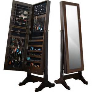 Mirror With Jewelry Cabinet Mirror Jewelry Armoire Brown Leia Q8 Designer Furniture