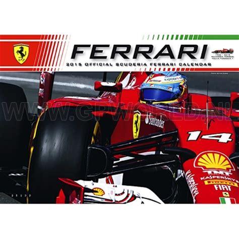 Ferrari Kalender by 2015 Official Ferrari F1 Kalender Gpworld Racing