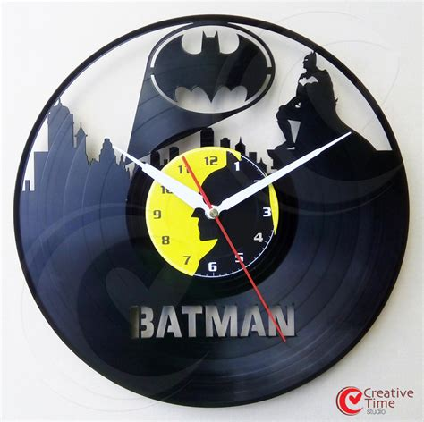 awesome clocks awesome superhero vinyl wall clocks sci fi design