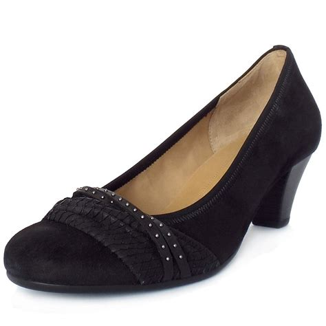 modern shoes gabor gateway s business casual black court shoes