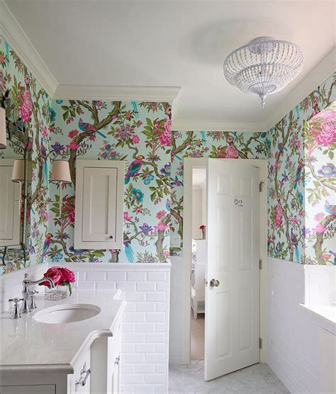 Bathroom Wallpaper Colors 20 Designs Of Stylish Bathroom Wallpapers Home Design Lover