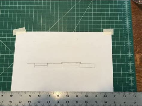 manual drafting draw  double hung window symbol