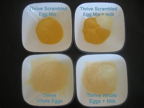 can i give my scrambled eggs thrive scrambled egg mix vs whole egg powder your own home store