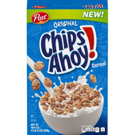 post chips ahoy breakfast cereal, chocolate chip, 19 oz