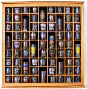 71 shot glass display case holder cabinet rack glass door