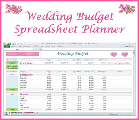 Wedding Organizer Excel by 17 Best Ideas About Wedding Budget Spreadsheet On