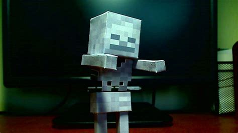 Skeleton Papercraft - how to make a minecraft papercraft skeleton doovi