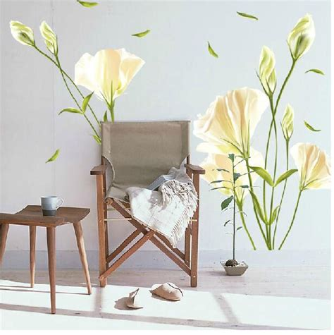 lily home decor wall stickers romantic bedside sticker decoration lily
