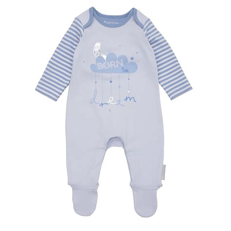 Mothercare Sleepsuit 4 mothercare baby newborn boy s born to care sleepsuit ebay