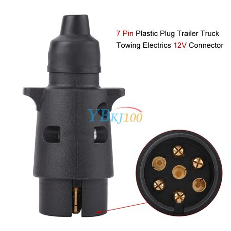7 pin plastic trailer socket wiring connector adapter