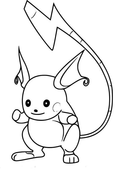 raichu coloring page 28 raichu coloring page printable free coloring pages