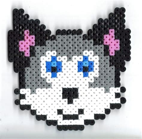 wolf perler bead pattern pin by womble on hama inspirations