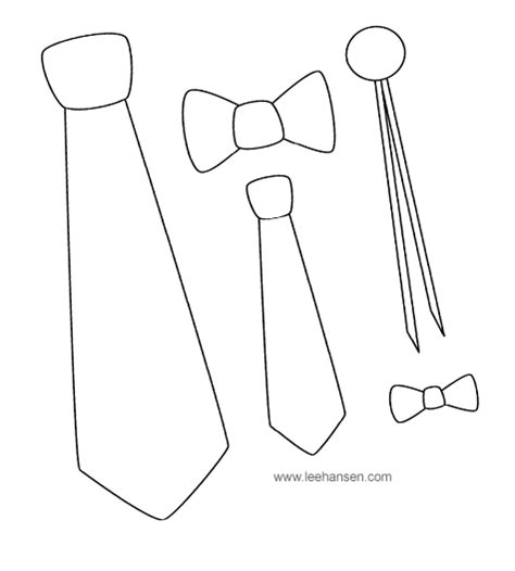 coloring page of a bow tie stencil father s day pinterest tie pattern