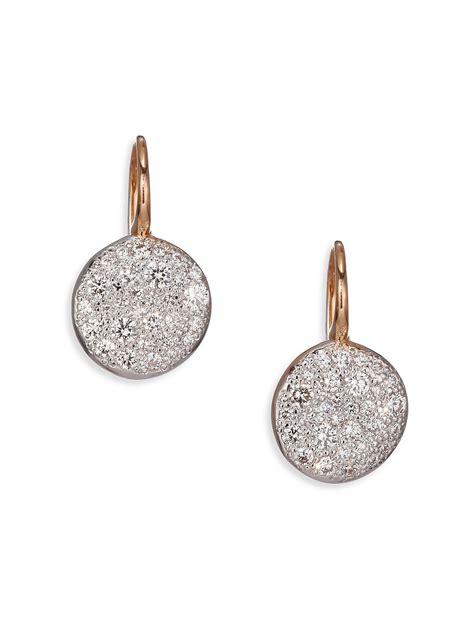 18k Gold Drop Earring pomellato sabbia 18k gold drop earrings in