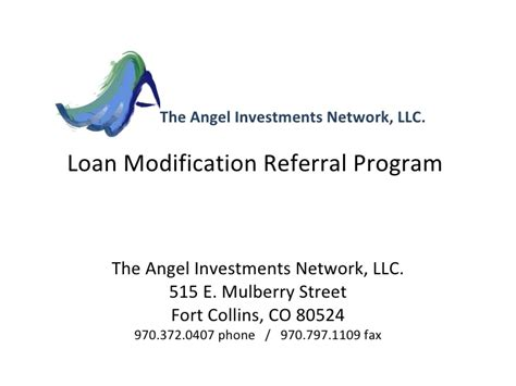 loan modification referral program seminar