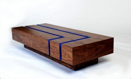 modern contemporary thoughtwood coffee table interior