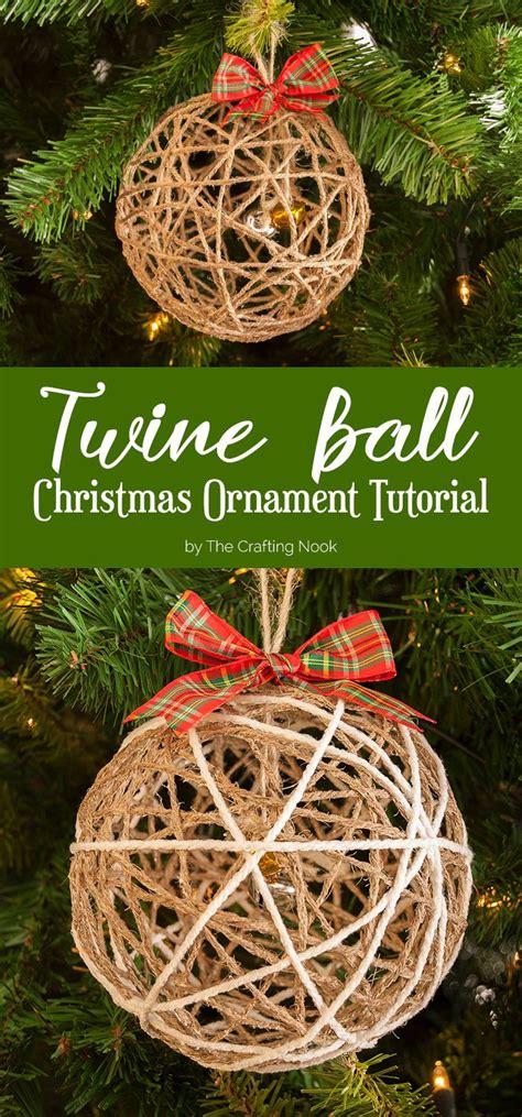 diy glitter twine ornaments twine ornament tutorial ornament tutorial twine and ornament