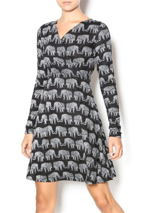 Elephant Dress angie elephant print dress from philadelphia by el quetzal