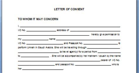 Permission Letter For Umrah Anggun Jelita Letter Of Consent Untuk Mengerjakan Umrah Bagi Wanita