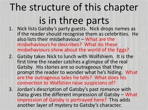 themes of the great gatsby chapter 2 the great gatsby chapters 4 and 5