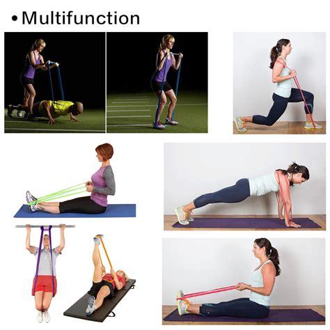 yoga workout tutorial tomount resistance tube gym fitness exercise workout heavy