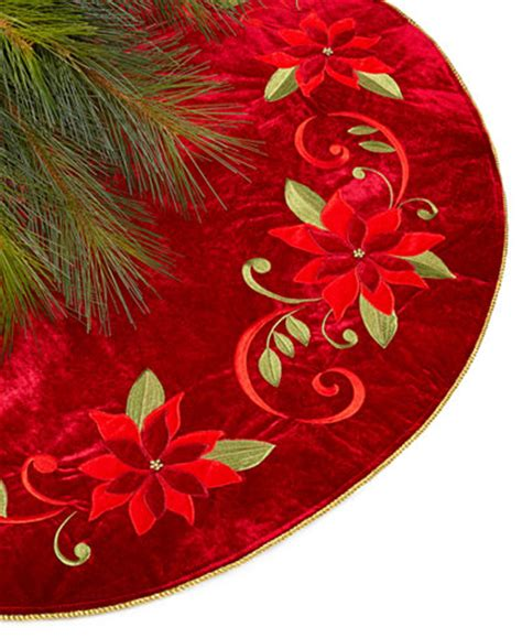 martha stewart tree skirt poinsetta poinsettia tree skirt only at macy s for the home macy s