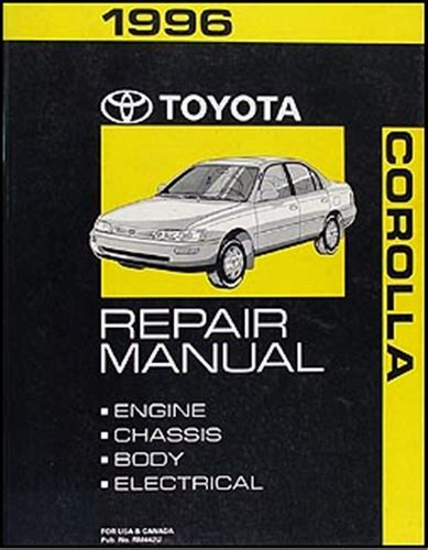 old car owners manuals 1996 toyota corolla on board diagnostic system 1996 toyota corolla wiring diagram manual original