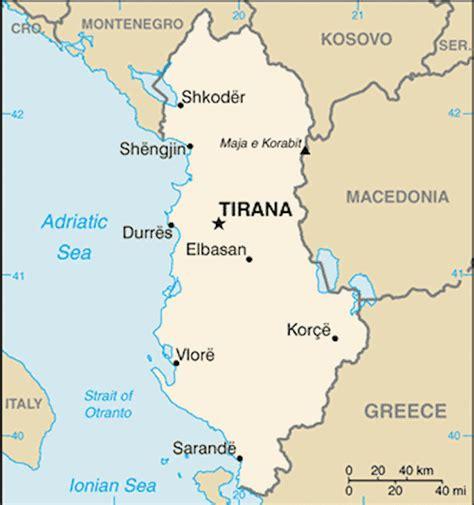 map of albania albania maps