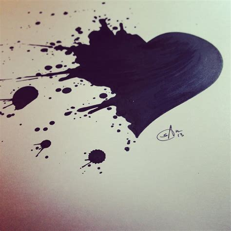 splatter heart by srj art on deviantart