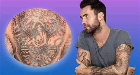 adam levine back tattoo adam levine unveils back punkee